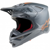 Alpinestars čelada S-M10 META-anthracite grau orange fluo
