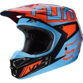 Fox čelada  V1 FALCON MX17-black/orange