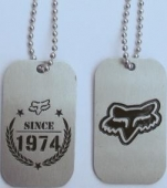Fox verižica Dog Tag